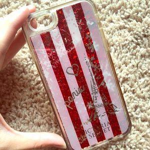 Victoria's Secret ❤️ Paris  glitter iPhone case